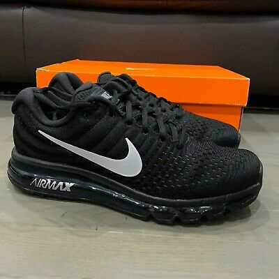 $124.88 • Buy Nike Air Max 2017 Running Shoes Black Anthracite White 849559-001 Men's Size 7.5