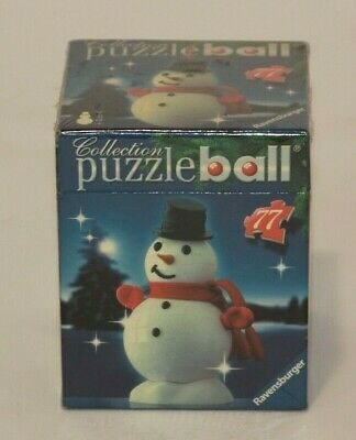 $22.95 • Buy Christmas Puzzle Ball Ravensburger 77 Pieces, 12 Cm New & Sealed Snowman NIB