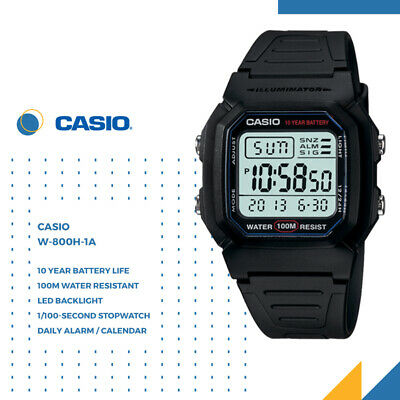 AU39.50 • Buy Casio W-800H-1A GENUINE Men's Digital Classic Sport Watch Dive Swim FREE SHIP AU