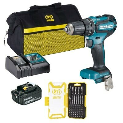 MAKITA DHP485PACK 18v LXT Brushless Combi Drill -  1 X 3Ah Battery/Charger/Bag • 119.99£