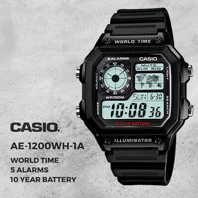 AU48.95 • Buy GENUINE Casio Digital Watch AE-1200WH-1AV Men's Sport Illuminator NEW FREE SHIP