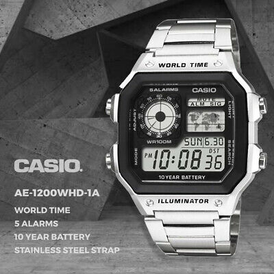 AU51.95 • Buy Casio Genuine AE-1200WHD-1A Digital Quartz Men's Watch Sport FREE AU SHIPPING