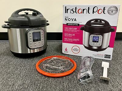 $39.99 • Buy Instant Pot - Duo Nova 6-Quart 7-in-1, One-Touch Multi-Cooker