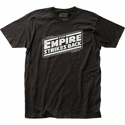$30.98 • Buy Star Wars The Empire Strikes Back Title Card T-Shirt Black