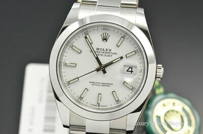 $ CDN10974.18 • Buy NEW 2020 Rolex Datejust 41MM White Index Dial SS Oyster Bracelet Watch 126300