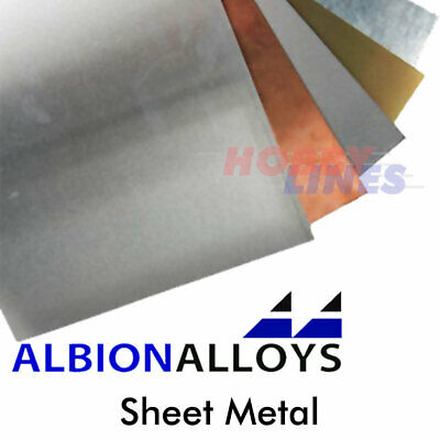 £5.75 • Buy Sheet Metal 100mm X 250mm ALBION ALLOYS Precision Materials Various Sizes SMM