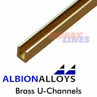 £5.75 • Buy U-Channel ALBION ALLOYS Precision Metal Model Materials Various Sizes UC UC1 UC2
