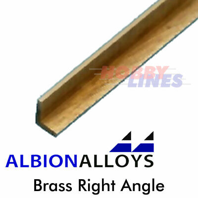 £6.30 • Buy Brass Right Angle 90° Degrees ALBION ALLOYS Precision Metal Various Sizes A1 A