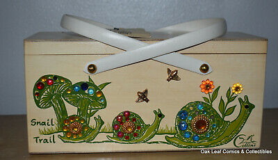 $165 • Buy Original Snail Mushroom Wood Box Bag By Enid Collins Of Texas Vintage WITH Tags!