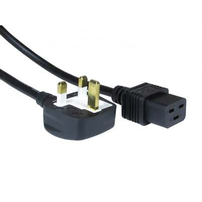 2m C19 Power Cable Lead UK 3 Pin Plug To International IEC  • 7.99£