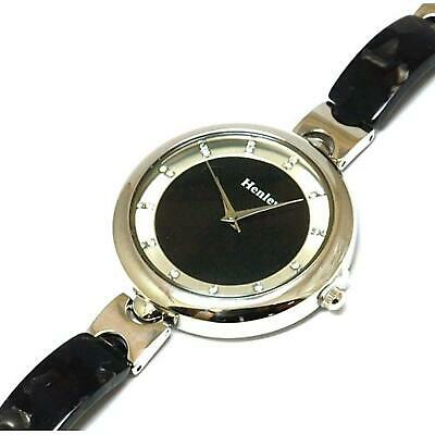 £15.95 • Buy Henley Glamour Ladies Slender Shell Watch, Diamante Crystals