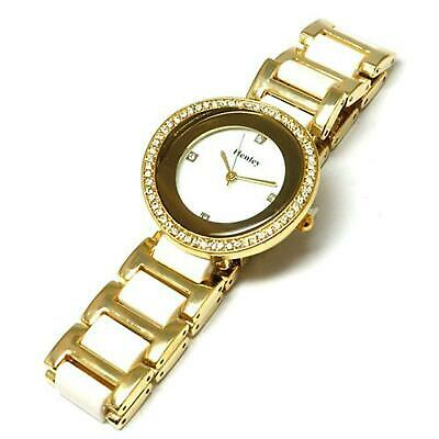 £16.95 • Buy Henley Glamour Goldtone & White Watch, Diamante Crystals