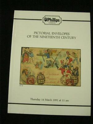 £4.99 • Buy Phillips Auction Catalogue 1991 Pictorial Envelopes Of The Nineteenth Century