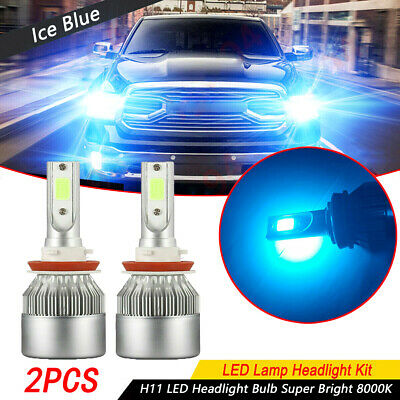 AU19.36 • Buy Ultra Ice Blue H11 LED Headlight Bulb Low Beam Light Super Bright 8000K 1 Pair