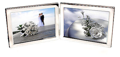 £17.99 • Buy Personalised Silver Plated Double Landscape Photo Frame, Engraved