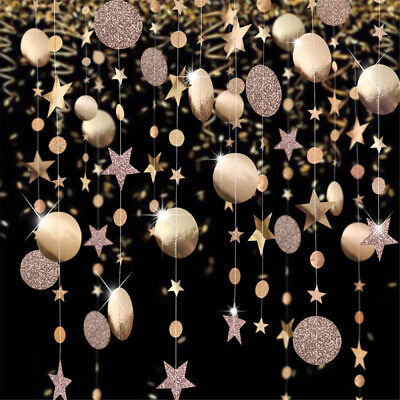 4M Glitter Powder Banner Rose Gold Hanging Flag Garland Wedding Party Decor • 3.79£