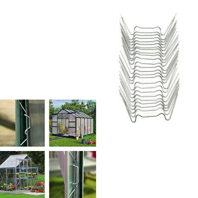 25-Piece W Glazing Clips Stainless Accessories For Greenhouse Universal • 3.51£