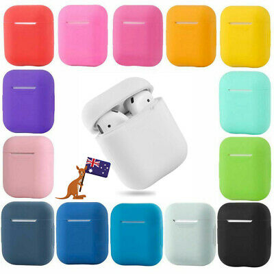 AU4.99 • Buy Apple Airpods Case Silicone Gel Skin Cover Holder For Shockproof Airpod 1 2
