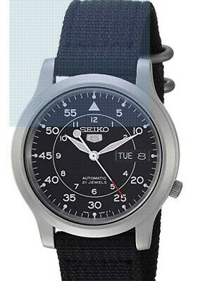 $ CDN176 • Buy Seiko Men's SNK809 Seiko 5 Automatic Stainless Steel Watch With Black Canvas Str