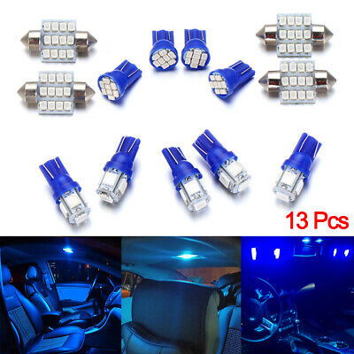 $6.59 • Buy 13 Pcs Auto Car LED Lights Accessories Interior For Dome License Plate Lamp 12V