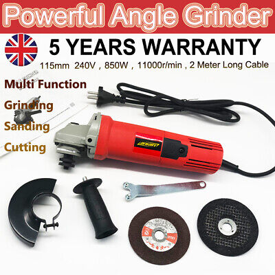 115mm Electric Angle Grinder Multi Tool 4.5  240V 850W Grinding Sander Polisher • 14.90£