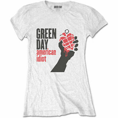 Green Day - American Idiot Women's Small T-Shirt - White • 13.49£