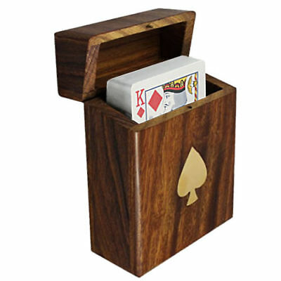 Personalised Standard Pack Of Playing Cards In Wooden Storage Box, Engraved • 16.99£