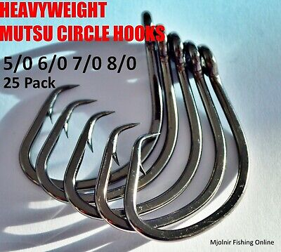 AU12.95 • Buy HEAVYWEIGHT MUTSU CIRCLE HOOKS Super Strong Fishing Circle Hooks 5/0-16/0