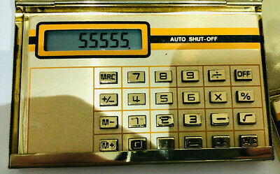 Metal Gold Colour Business/credit-card Holders +Gold Pocket Calculators 10+Units • 8£