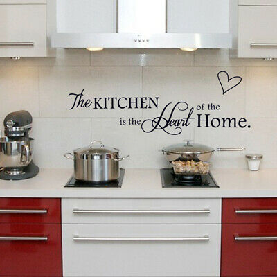 The Kitchen Heart Home Quote Wall Stickers Art Family Room Removable Decal DIY • 3.29£