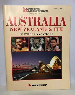 $8 • Buy Vintage Qantas Vacations Jetabout Australia New Zeal And Fiji Booklet 1999-2000