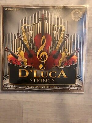 $4 • Buy D'Luca Stainless Steel Core Flat Nickel Wound, Ball End Violin String Set 1/2