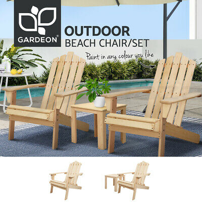 AU189.90 • Buy Gardeon Outdoor Furniture Chairs Table Lounge Setting Patio DIY Adirondack Chair