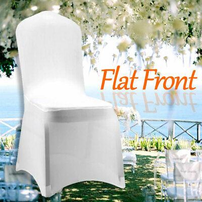 £115.99 • Buy 100X Chair Covers Spandex Lycra Cover Wedding Banquet Anniversary Party White
