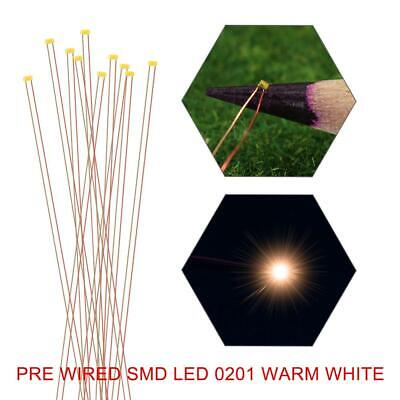 $9.99 • Buy 10pcs Pre-wired SMD 0201 LED Warm White Pre-soldered Copper Wire LED