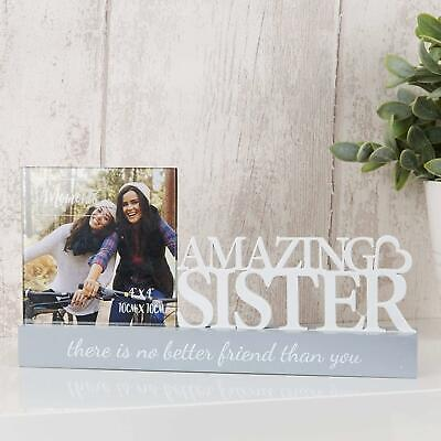 £11.99 • Buy Amazing Sister Photo Frame 4 X 4 Sisters Best Friends Mantel Picture Holder Gift