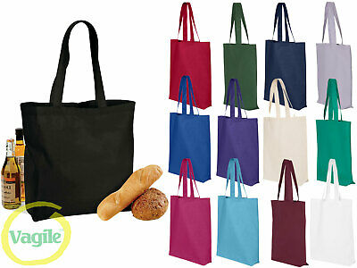 Plain Cotton Maxi Large Wide Shoulder Tote Shopper Grocery Shopping Bag For Life • 3.79£