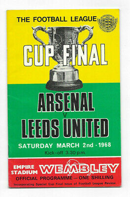 1968 League Cup Final - LEEDS UNITED V. ARSENAL (official Programme) • 5.99£