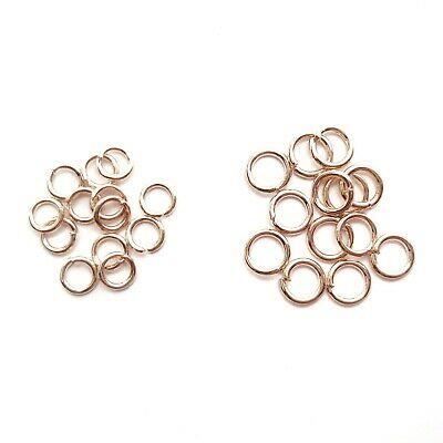 Rose Gold Plated Colour Jump Rings 4mm 5mm Chain Fasteners Jewellery Making • 1.99£