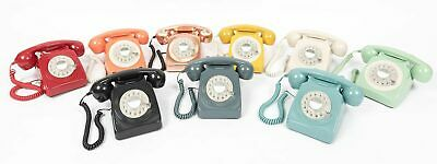 Retro Corded Telephone Landline GPO 746 Phone - Working Rotary Dial All Colours • 37.13£