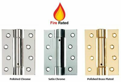 Self Closing Adjustable Single Action Spring Hinges (Fire Rated) 100mm / 4  • 14.85£