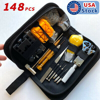 $ CDN22.76 • Buy 148PcS Watch Battery Change Repair Tool Band Pin Remover Back Case Opener Kit US