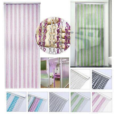 Colourful Metal Chain Door Curtain Fly Insect Blinds Screen Pest Control • 35.95£