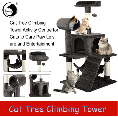 Cat Tree Tower Condo Scratching Cats 3-Level House Play Toy Tower Furniture NEW • 33.99£