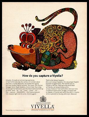 1963 Viyella  One Of The Seven Great Fabrics Of The World  Rat Vintage Print Ad • 7.28£