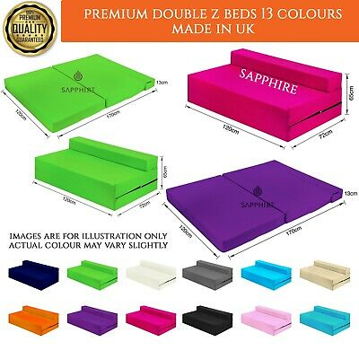 £75.88 • Buy Fold Out Futon Double Guest Cotton Twill Z Bed Chair Folding Mattress Sofa Bed