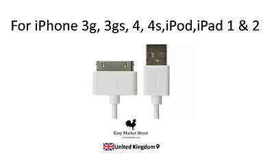 £1.86 • Buy Charging USB Cable Charger Data Lead For Apple IPhone 4, 4S, 3GS, IPod, IPad 2 1