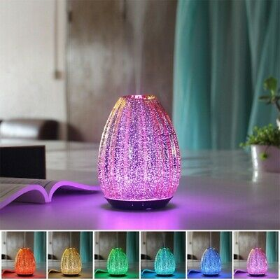 AU40.41 • Buy 3D Led Night Light Air Humidifier Glass Aroma Essential Oil Diffuser Mist Maker