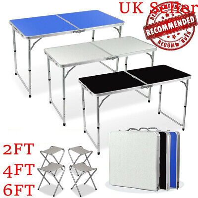 Folding Trestle Table Picnic Camping BBQ Banquet Party Garden 2/4/6FT Heavy Duty • 29.99£