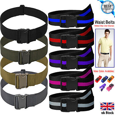 Quick Release Buckle Military Trouser BELT Army Tactical Canvas Webbing Black UK • 4.99£